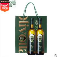 欧丽薇兰纯正橄榄油750ML礼盒装750ML2瓶双支礼盒橄榄油一件代发