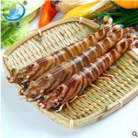 鲜沛海鲜批发冷冻虾类 8条/盒野生灯捕斑节虾 批量供应酒店餐饮