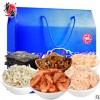 华盛海味礼盒虾皮丁香鱼小红虾干紫菜礼包 6件套 478g