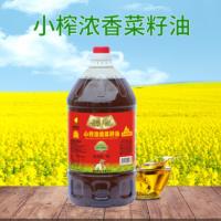 蜀农5L小榨浓香菜籽油 压榨浓香菜籽油 学校家庭食用菜籽油