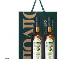 厂家批发欧丽薇兰特级初榨橄榄油500ml*2瓶即时冷榨橄榄油食用油