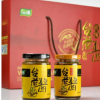 厂家**山西五台山特产传统台蘑酱礼盒150ml*6礼品淘宝分销