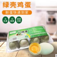 厂家直销绿壳鸡蛋 农家自然喂养鸡蛋新鲜鸡蛋批发供应8枚一盒