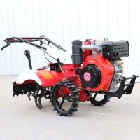 四驱旋耕机可带犁开沟松土果园大棚旋耕机小型大葱旋耕开沟培土机