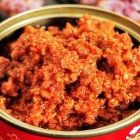 麻辣牛肉酱即食休闲零食下饭菜拌面酱工厂批发OME代加工100g/罐